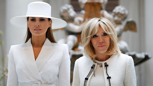 Melania Trump can't even go outside at White House, French first lady says