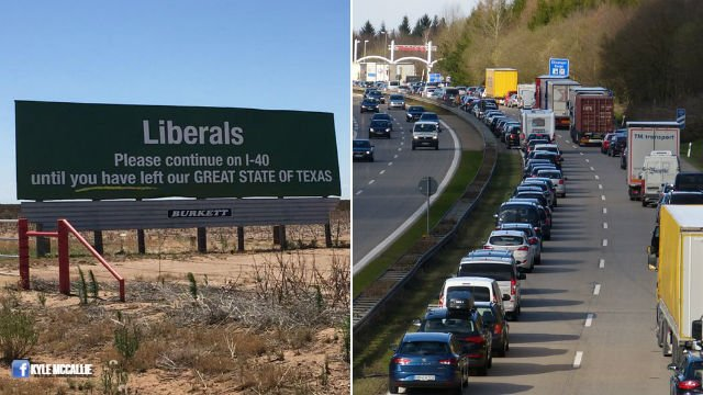 Billboard telling liberals to get out of Texas goes viral