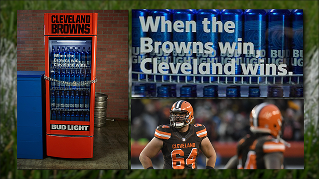 Bud Light to reward fans with free beer when Browns win first game