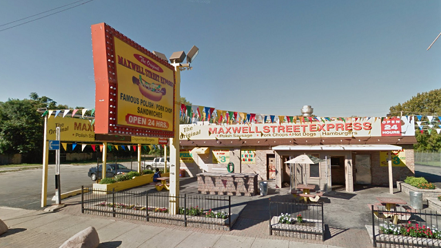 Police said the Original Maxwell Street Polish Express at 116th and Halsted in Chicago, Ill. was robbed at gunpoint on Tuesday, Oct. 30. (Google.com)