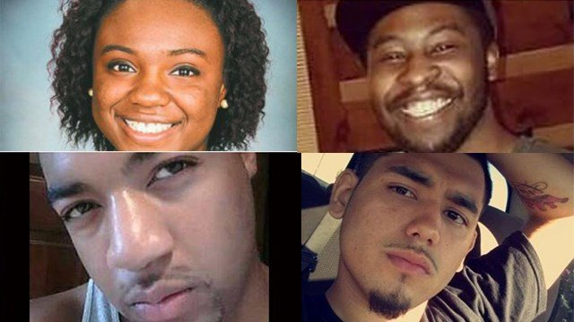 DeEbony Groves, 21 (top left), Akilah Dasilva, 23 (top right), Taurean Sanderlin, 29 (bottom left), and Joe Perez, 20 (bottom right) were killed in the Waffle House shooting near Nashville Sunday. (Credit: Facebook)