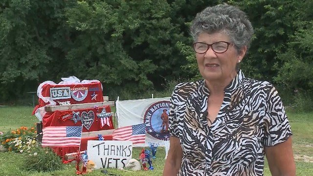 Woman ticketed for patriotic display