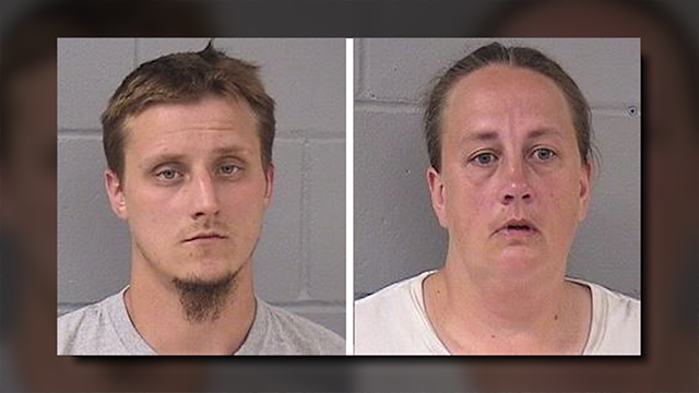 Alex Craig Shadlow, 30, and Traci Lynn Tyler, 39, have been accused of torturing the man's 8-year-old son for months. (Photo Credit: Hardin County Jail)