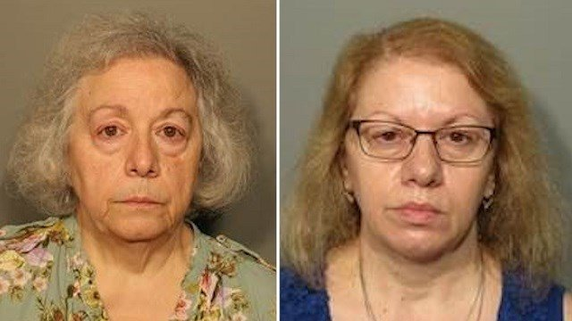 Marie Wilson, 67, and Joanne Pascarelli, 61, are charged with larceny and defrauding a public community. (New Canaan Police Department)