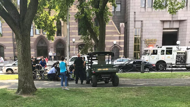 Another overdose was reported on the New Haven Green on Thursday morning. (WFSB)