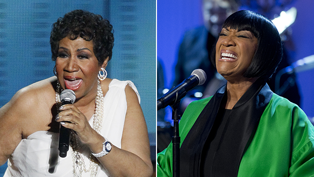 This combo photo shows Aretha Franklin, left, and Patti LaBelle, right. (AP Photo)