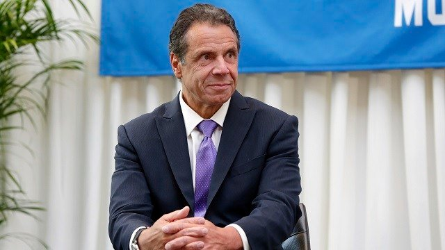 New York Gov. Andrew Cuomo attends the ceremony marking Billy Joel's 100th performance at New York's Madison Square Garden, Wednesday, July 18, 2018. (AP Photo/Richard Drew)