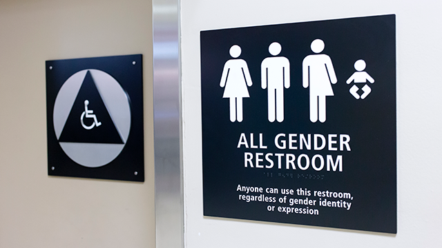 This file image shows an all gender restroom. (Getty)