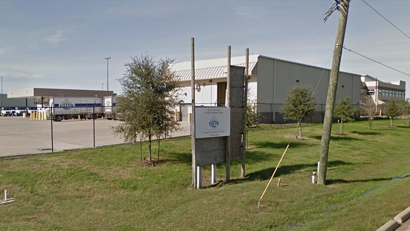 This photo shows the Ben E. Keith Distribution Center in Missouri City, Texas. (Google Street View)