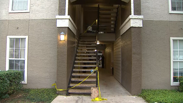 Police are investigating the stabbing death of an 16-month-old boy at an apartment complex in Lewisville, Texas. (KTVT via CNN)