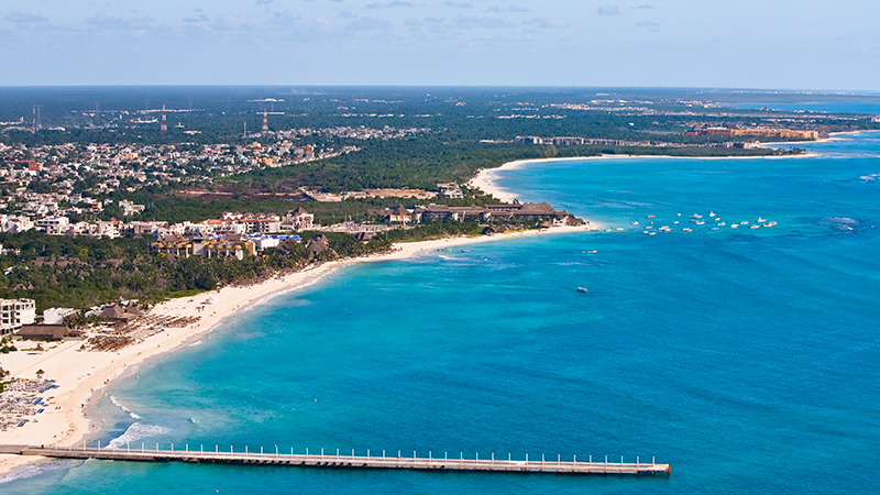 This file image shows an aerial view of Quintana Roo, Mexico, where Cancun is located. (Getty)